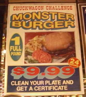 Chuckwagon Specials via Urban Spoon