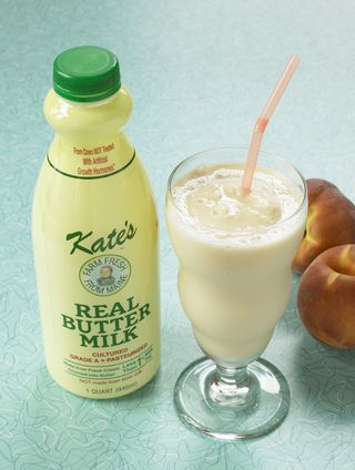 Real buttermilk via KatesHomemadeButter