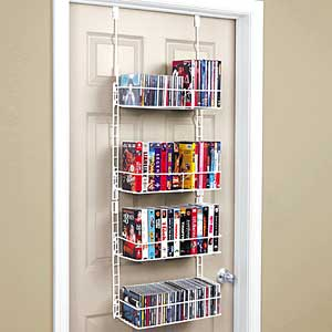 Overdoor vhs rack via ShopGetOrganized