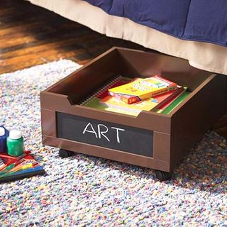 Wheelie bed storage via SunnySimpleLife_blogspot_com