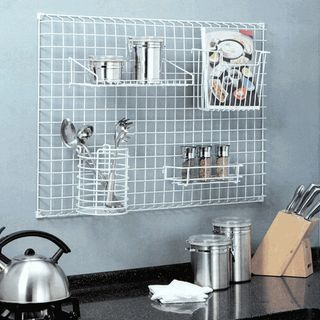 Kitchen wall grid via BeyondTheKitchenSink_com