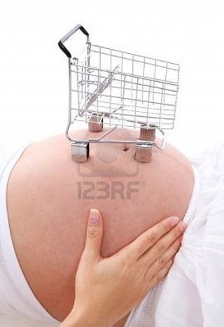 Preggo cart via 123rf-com