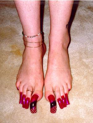 Super long toenails
